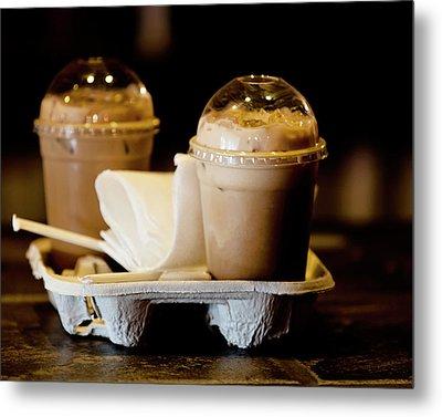 Iced Caramel Coffee Metal Print
