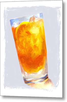 Iced Tea Metal Print by Jai Johnson