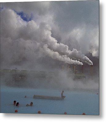 Iceland, Blue Lagoon, Grindavik, People Metal Print by Keenpress