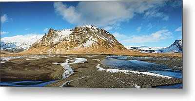 Metal Print featuring the photograph Iceland Landscape Panorama Sudurland by Matthias Hauser