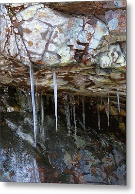 Metal Print featuring the photograph Icicle Art by Doris Potter