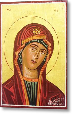 Icon Of The Virgin Mary. Metal Print by Anastasis  Anastasi