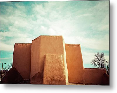 Metal Print featuring the photograph Iconic Church In Taos by Marilyn Hunt
