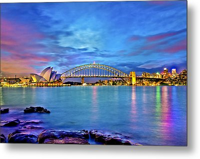 Icons Of Sydney Harbour Metal Print by Az Jackson