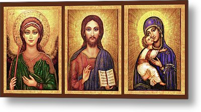 Icons Tryptichon Metal Print by Ananda Vdovic