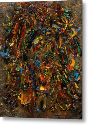 Metal Print featuring the mixed media Icy Abstract 2 by Sami Tiainen