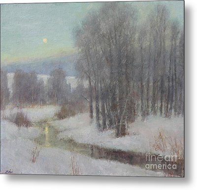 Icy Evening Metal Print by Lori McNee