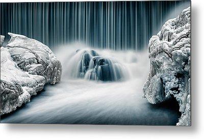 Icy Falls Metal Print by Keijo Savolainen