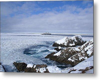Icy Ocean Slush Metal Print