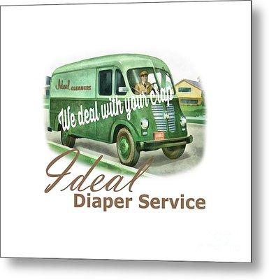 Ideal Diaper Service Tee Metal Print by Edward Fielding