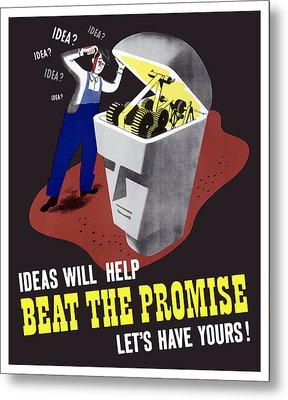 Metal Print featuring the digital art Ideas Will Help Beat The Promise by War Is Hell Store