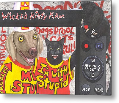 If Dogs Could Read Metal Print by Catherine G McElroy