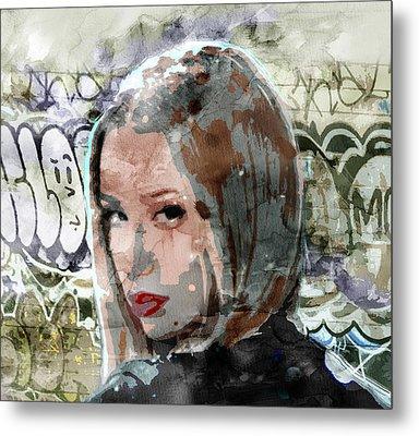 Iggy Azalea Graffiti 3 Metal Print by Jani Heinonen