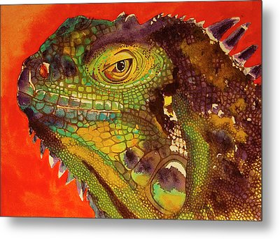 Metal Print featuring the painting Iggy by Cynthia Powell