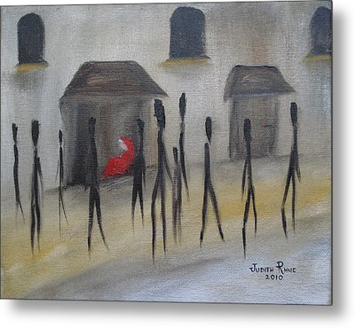 Ignoring The Homeless Metal Print by Judith Rhue