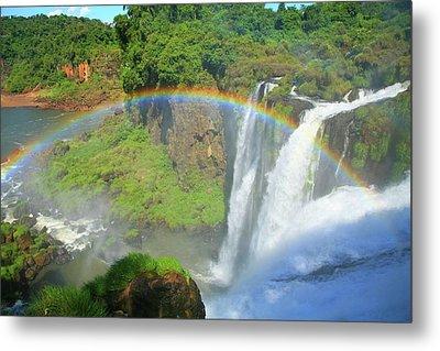 Iguazu Rainbow Metal Print