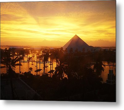 Metal Print featuring the photograph Ike Sunset by John Collins