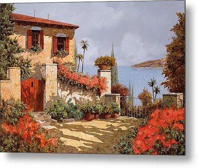 Il Giardino Rosso Metal Print by Guido Borelli