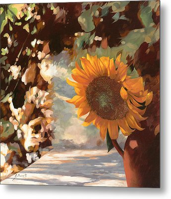 Il Girasole Metal Print by Guido Borelli