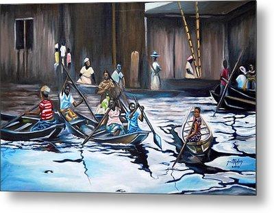 Ilaje Obalende Makoko Metal Print