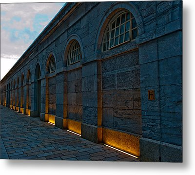 Illuminated Arches Metal Print by Helen Northcott