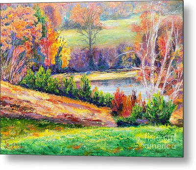 Metal Print featuring the painting Illuminating Colors Of Fall by Lee Nixon