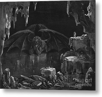Illustration From The Divine Comedy Metal Print by Gustave Dore