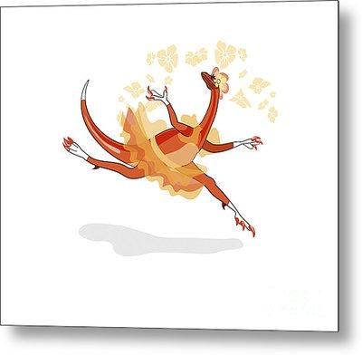 Illustration Of A Ballerina Dancing Metal Print