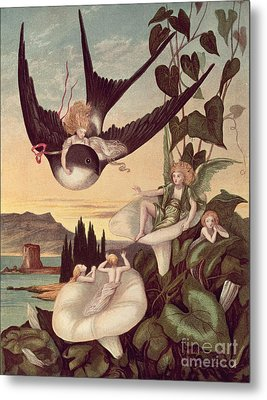 Illustration To 'thumbkinetta' Metal Print by Eleanor Vere Boyle and Hans Christian Andersen