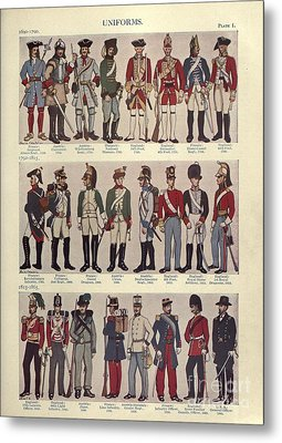 Illustrations Of Military Uniforms Metal Print by MotionAge Designs