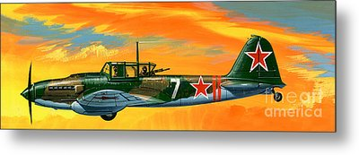 Ilyushin II 2m3 Russian Ground Attack Aircraft Metal Print by Wilf Hardy