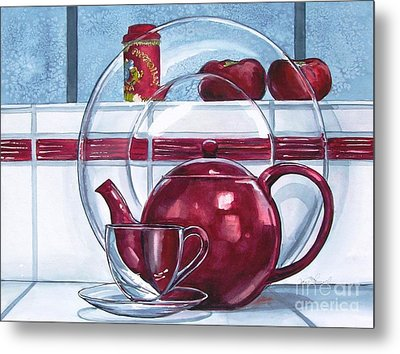I'm A Little Teapot Metal Print by Jane Loveall