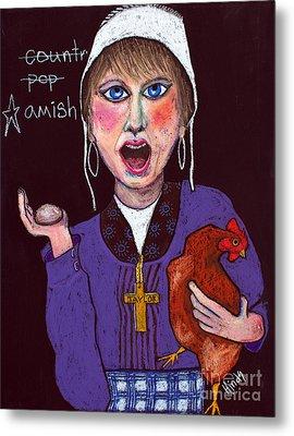 I'm Amish Metal Print