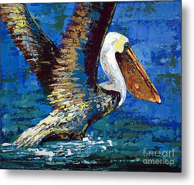 Metal Print featuring the painting Im Outa Here by Suzanne McKee