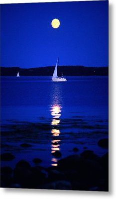 Imageworks Photographic Sailboat Out On Metal Print by Imageworks Photographic