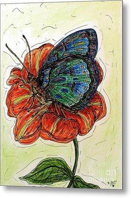 Imagine Butterflies A Metal Print