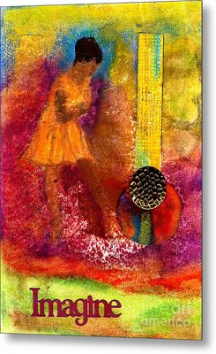 Imagine Winning Metal Print by Angela L Walker
