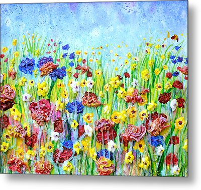 Imagining A Meadow Metal Print by Regina Valluzzi