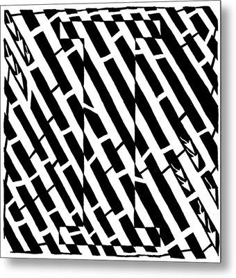 iMaze Metal Print by Yonatan Frimer Maze Artist