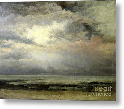 Immensity Metal Print by Gustave Courbet