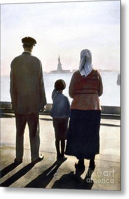 Immigrants: Ellis Island Metal Print by Granger