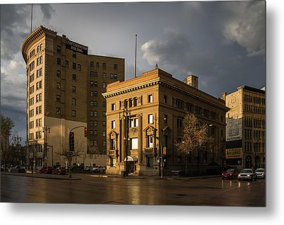 Imperial Bank Of Canada/confederation Building Metal Print by Bryan Scott