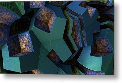 Impossible Boxes Metal Print