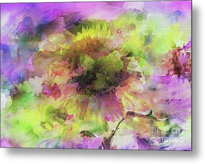 Impression Sunflower Metal Print