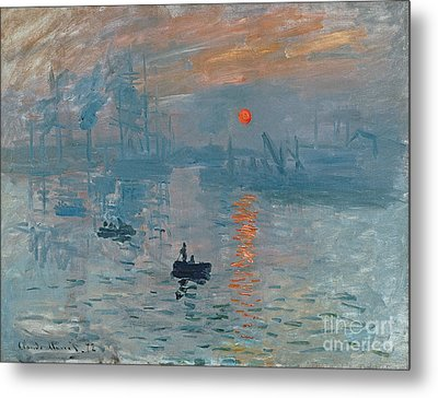 Impression Sunrise Metal Print by Claude Monet