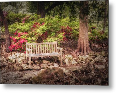 Metal Print featuring the photograph Impressionist Bench by James Barber
