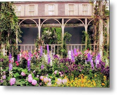Impressionist Garden Metal Print