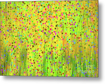 Impressionist Meadow Metal Print