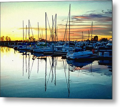 Metal Print featuring the photograph Impressions Of A San Diego Marina by Glenn McCarthy Art and Photography