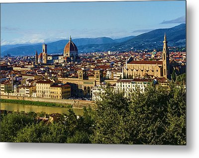 Impressions Of Florence - A View From The Top Metal Print